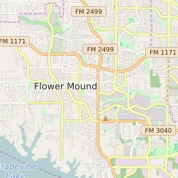 Flower Mound Texas Zip Code Map Updated December 2020